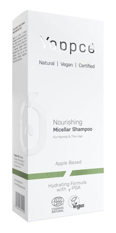 Yappco, Micelarny, odżywczy szampon do włosów normalnych i cienkich, 200ml