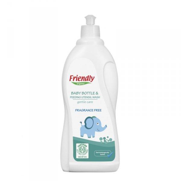 Friendly Organic, Płyn do mycia butelek dziecięcych Bezzapachowy, 750ml