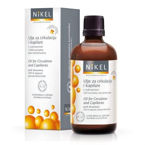 NIKEL, Olejek z liści Rozmarynu poprawiający mikrocyrkulację krwi i niwelujący uczucie ciężkich nóg, 100% naturalny, 100ml