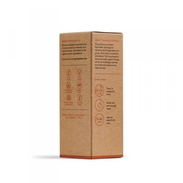 Georganics, Olej do płukania ust, Orange, 100 ml