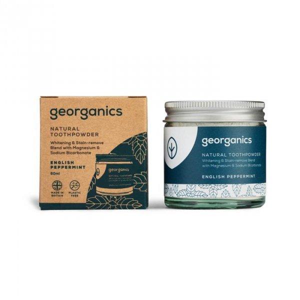 Georganics, Proszek do czyszczenia zębów, English Peppermint, 60 ml