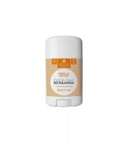 BEN & ANNA Naturalny Dezodorant na bazie Sody VANILLA ORCHID (sztyft plastikowy) 0% Aluminium 60g