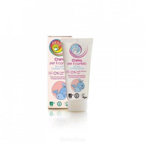 EKOS BABY Krem ochronny na podrażnienia pieluszkowe 0% cynku i talku z ekstraktami z upraw ekologicznych 100 ml