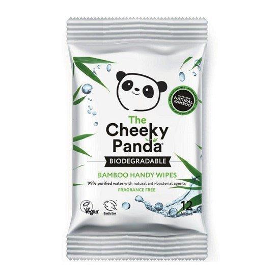 THE CHEEKY PANDA Handy Wipes Nawilżane chusteczki bambusowe dla dzieci MINI 12 sztuki