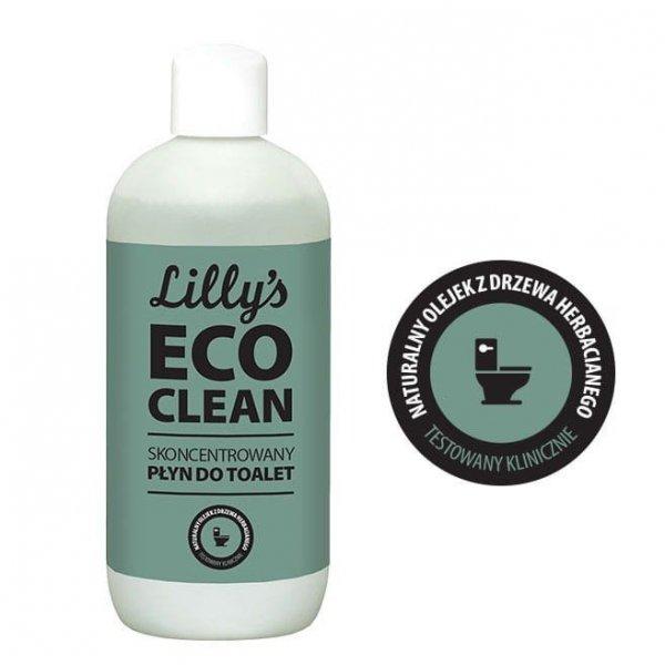 6x LILLY'S ECO CLEAN Skoncentrowany Płyn do Toalet z olejkiem z drzewa herbacianego 750 ml