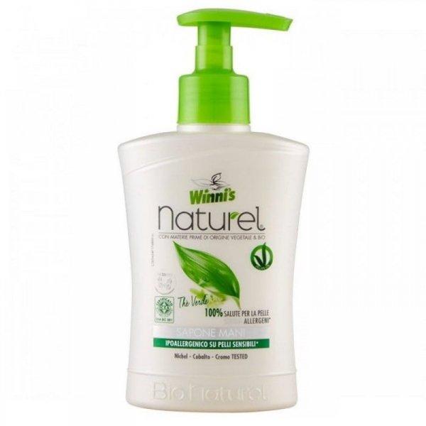 Winni's Mydło do mycia rąk i twarzy z ekstraktami organicznymi z zielonej herbaty brzozy i aloesu 250ml