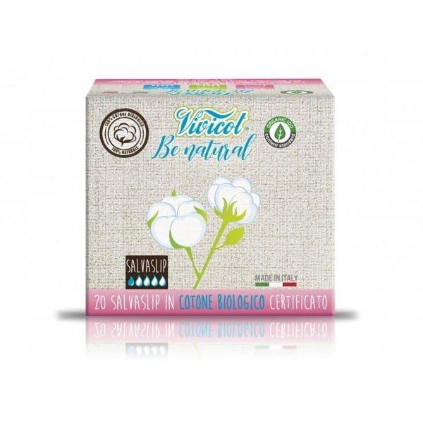 VIVICOT BE NATURAL Wkładki higieniczne z CERTYFIKOWANEJ bawełny organicznej niebielone chlorem 20 sztuk
