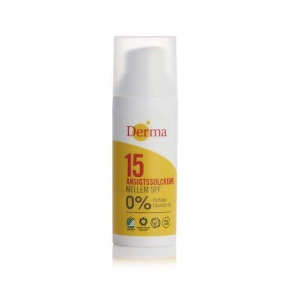 Derma Sun Krem słoneczny do twarzy SPF 15 hipoalergiczny certyfikowany 50ml