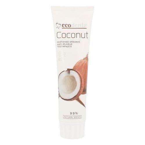 ECODENTA COSMOS Pasta do zębów przeciw kamieniowi nazębnemu z olejkiem kokosowym i solą cynkową 75ml