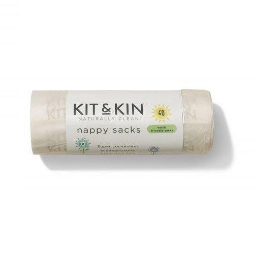 KIT and KIN Biodegradowalne bezzapachowe worki na zużyte pieluszki 60 szt