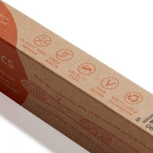 GEORGANICS Ekologiczna szczoteczka do zębów z drewna bukowego dla dzieci