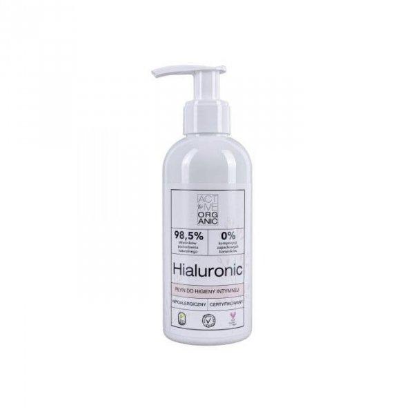 ACTIVE ORGANIC Płyn do higieny intymnej HIALURONIC z pompką 200 ml