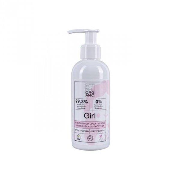 ACTIVE ORGANIC Płyn do mycia ciała dla dziewczynek GIRL z pompką 200 ml