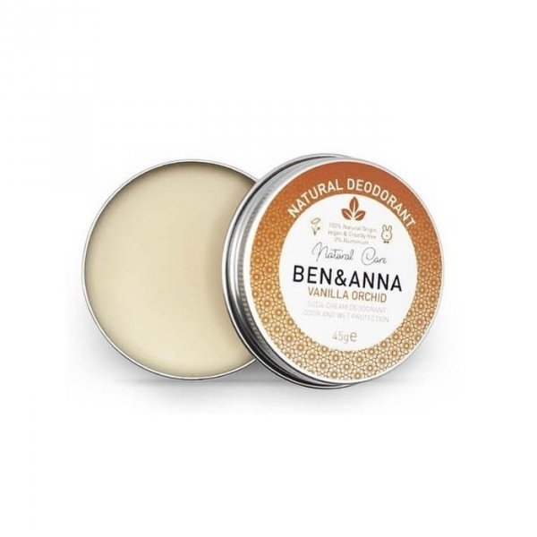BEN & ANNA Naturalny dezodorant na bazie sody 0% aluminium w kremie w puszce VANILLA ORCHID 45g