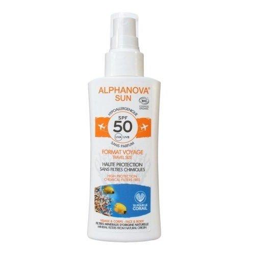 ALPHANOVA SUN Spray z filtrem SPF 50 wersja podróżna 90g