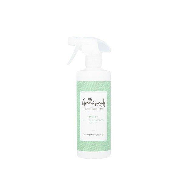 GREENSCENTS Hipoalergiczny skoncentrowany Spray do czyszczenia różnych powierzchni Certyfikowany MIĘTOWY 500ml