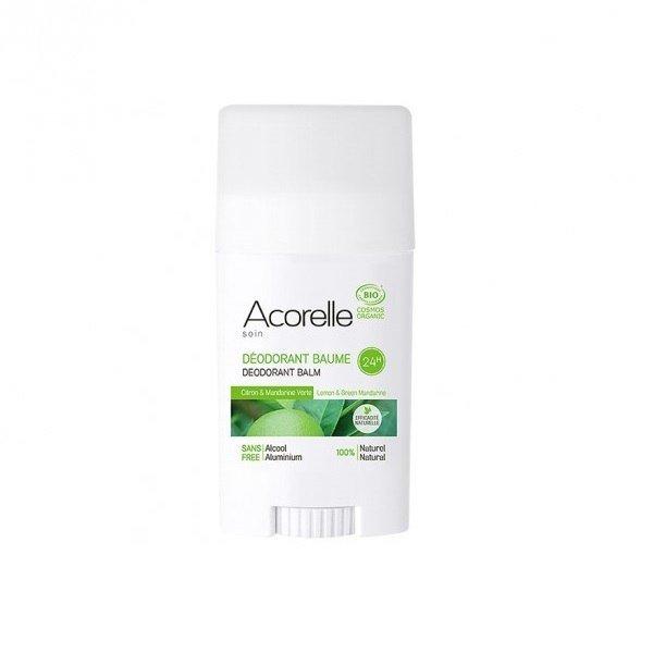 ACORELLE Organiczny dezodorant w sztyfcie Cytryna i Zielona Mandarynka ECOCERT 40g