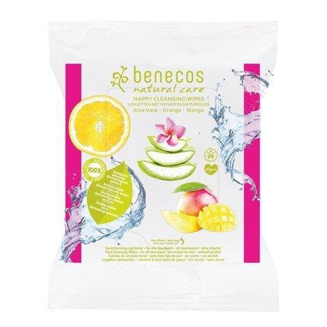 BENECOS Naturalne wilgotne chusteczki oczyszczające Aloes&Mango&Pomarańcza 25szt