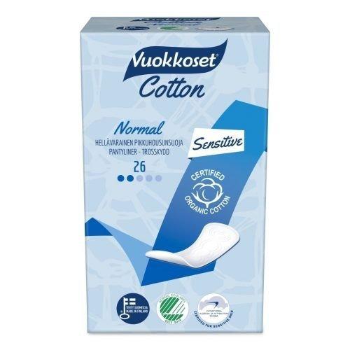 Vuokkoset COTTON Wkładki Higieniczne Normal Sensitive 26 szt