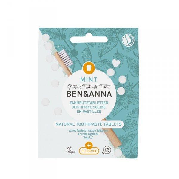 BEN & ANNA Naturalne tabletki do mycia zębów Z FLUOREM 36g