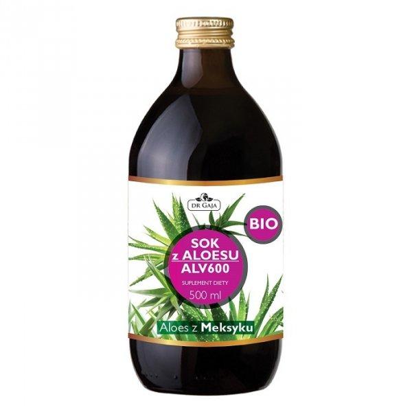 Dr Gaja BIO Sok z Aloesu ALV600 pasteryzowany HTST 500 ml