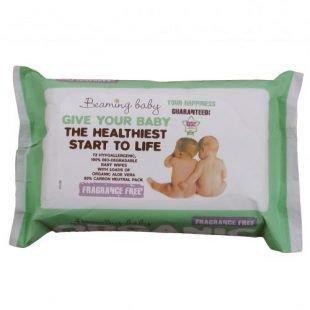 BEAMING BABY Organiczne Chusteczki Nawilżane BEZZAPACHOWE - do skóry bardzo delikatnej, 72 szt.