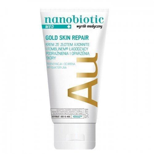 NANOBIOTIC Gold Skin Repair MED Krem ze złotem łagodzący podrażnienia i oparzenia skóry 50ml