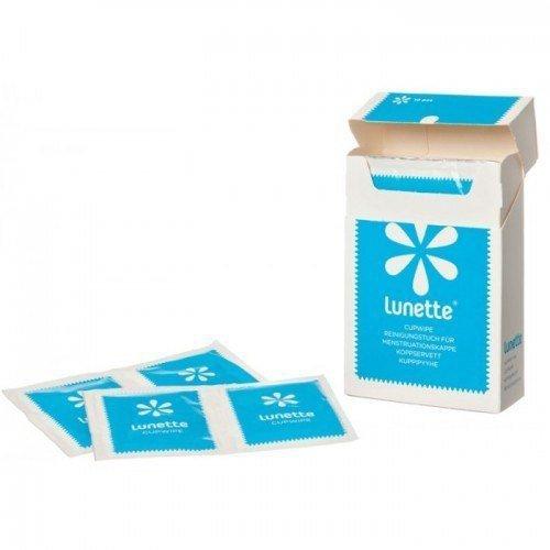 LUNETTE Chusteczki do czyszczenia i sterylizacji kubeczka menstruacyjnego higieniczne i praktyczne opakowanie 10 szt.