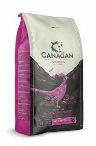 Canagan Highland Feast 6kg Drobiowa uczta dla Psa Bez Zbóż (Kaczka, Indyk, Bażant, Kurczak)