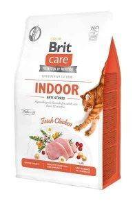 Brit Care Indoor Kot 2kg z formułą antystresową dla kotów niewychodzących z domu