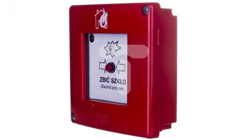 Przycisk ppoż. natynkowy 1Z 1R czerwony W0-ROP-AD2E XY