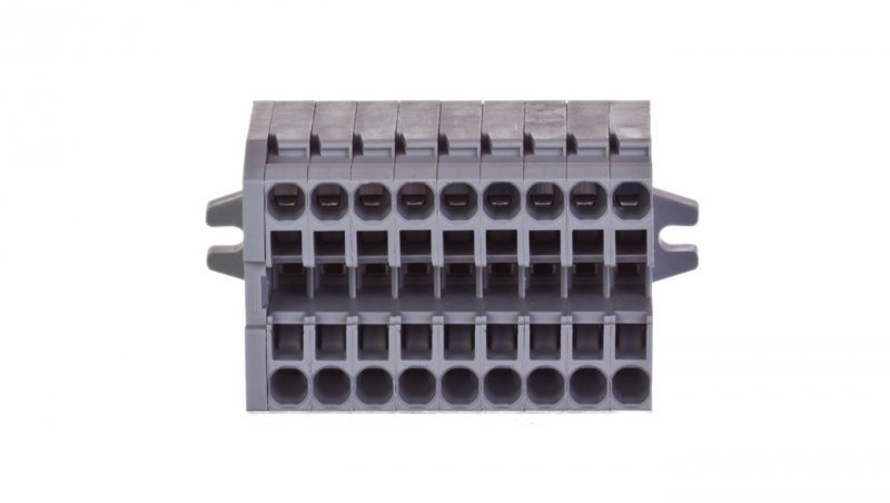 Listwa zaciskowa kompaktowa 2-przewodowa 2,5mm2 9-torowa z mocowaniem śrubowym szara 869-109