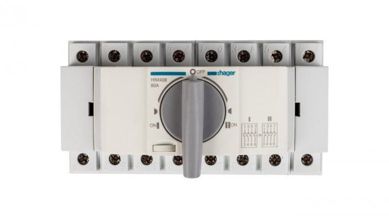 Przełącznik w układzie przełącznym I-0-II 4P 80A HIM408