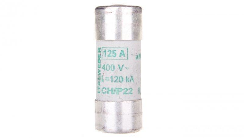 Wkładka bezpiecznikowa cylindryczna 22x58mm 125A aM 400V CH22P /z wybijakiem/ 006711054