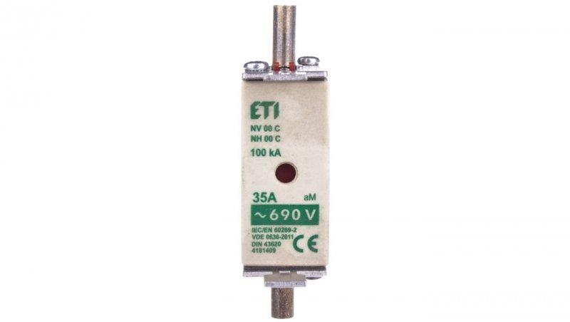 Wkładka bezpiecznikowa KOMBI NH00C 35A aM 690V WT-00C 004181409