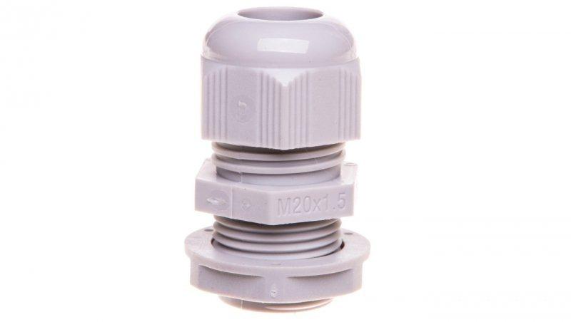 Dławnica kablowa poliamidowa M20 IP68 DP 20 HML szara E03DK-01050100201