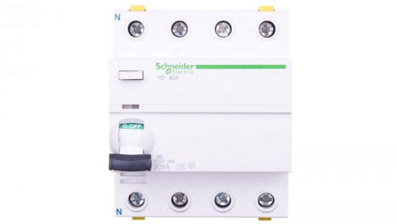 Wyłącznik różnicowoprądowy 4P 80A 0,03A typ A iID A9Z21480