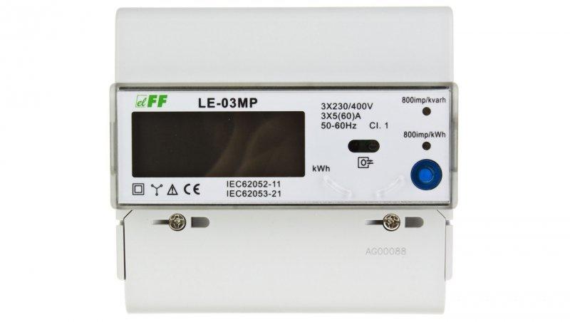 Licznik energii elektrycznej 3-fazowy 60A 230/400V RS-485 MODBUS wyświetlacz LCD LE-03MP