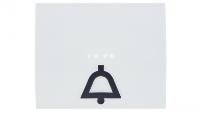 SISTENA LIFE Klawisz /dzwonek/ z podświetleniem arctic 771012