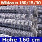 Wildzaun Forstzaun Weidezaun 160/15/30 50 Meter