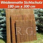 Weidenmatte Sichtschutz Rollzaun 180 cm x 300 cm