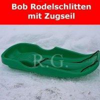 Bob Schlitten Race mit Zugseil in grün