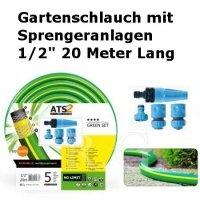 Gartenschlauch Green mit Sprengeranlagen 1/2 20 Meter Lang