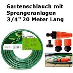 """Gartenschlauch Econ mit Sprengeranlagen 3/4"""" 20 Meter Lang"""