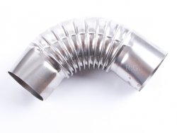 Ofenknie Bogen 90° Knie Ofenrohr Winkel 110 mm
