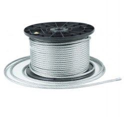 1m Stahlseil Drahtseil galvanisch verzinkt Seil Draht 4mm 6x7