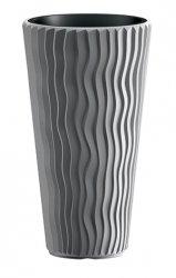 Blumentopf Pflanzkübel 3D Effect Sandy Slim 300 grau