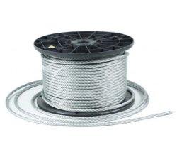 100m Stahlseil Drahtseil galvanisch verzinkt Seil Draht 5mm 6x7