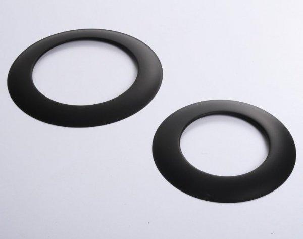 Rosette Wandrosette für Ofenrohre schwarz 130