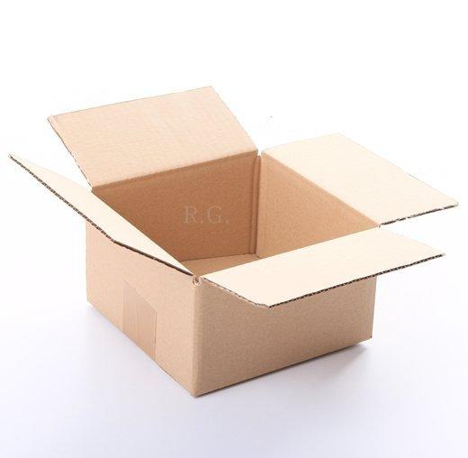 20x Faltkarton Karton 150x150x80